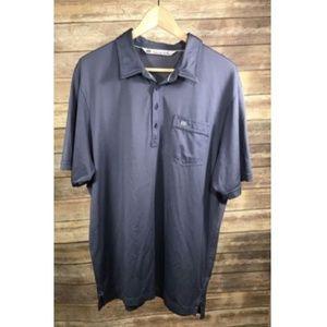 Travis Mathew Pima Cotton Blue Polo XL T70